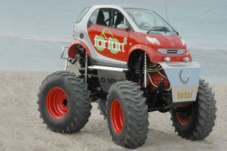 11 Normal Cars With Ridiculously Massive Wheels Image 9