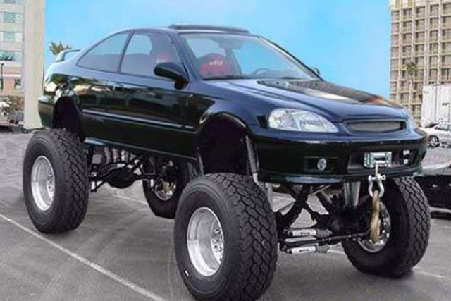 11 Normal Cars With Ridiculously Massive Wheels Image 8