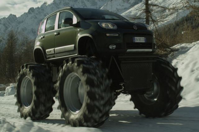 11 Normal Cars With Ridiculously Massive Wheels Image 6