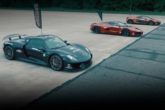 Video Drag Race Of The Day Ferrari Laferrari Vs Porsche 918 Mclaren P1