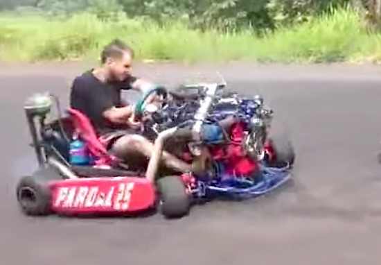 Video: This Twin Turbo'd Go-kart With A Front Mounted ...