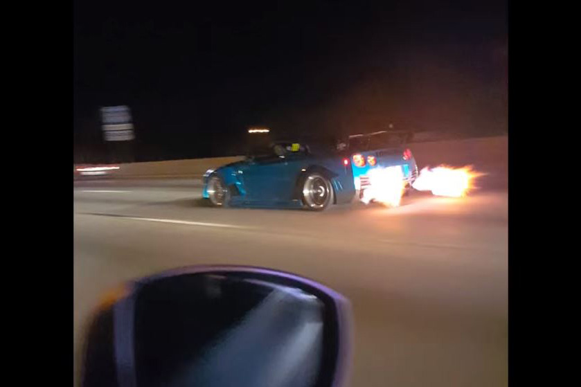 Video This Blue Gt R Is One Badass Flame Spitting Dragon