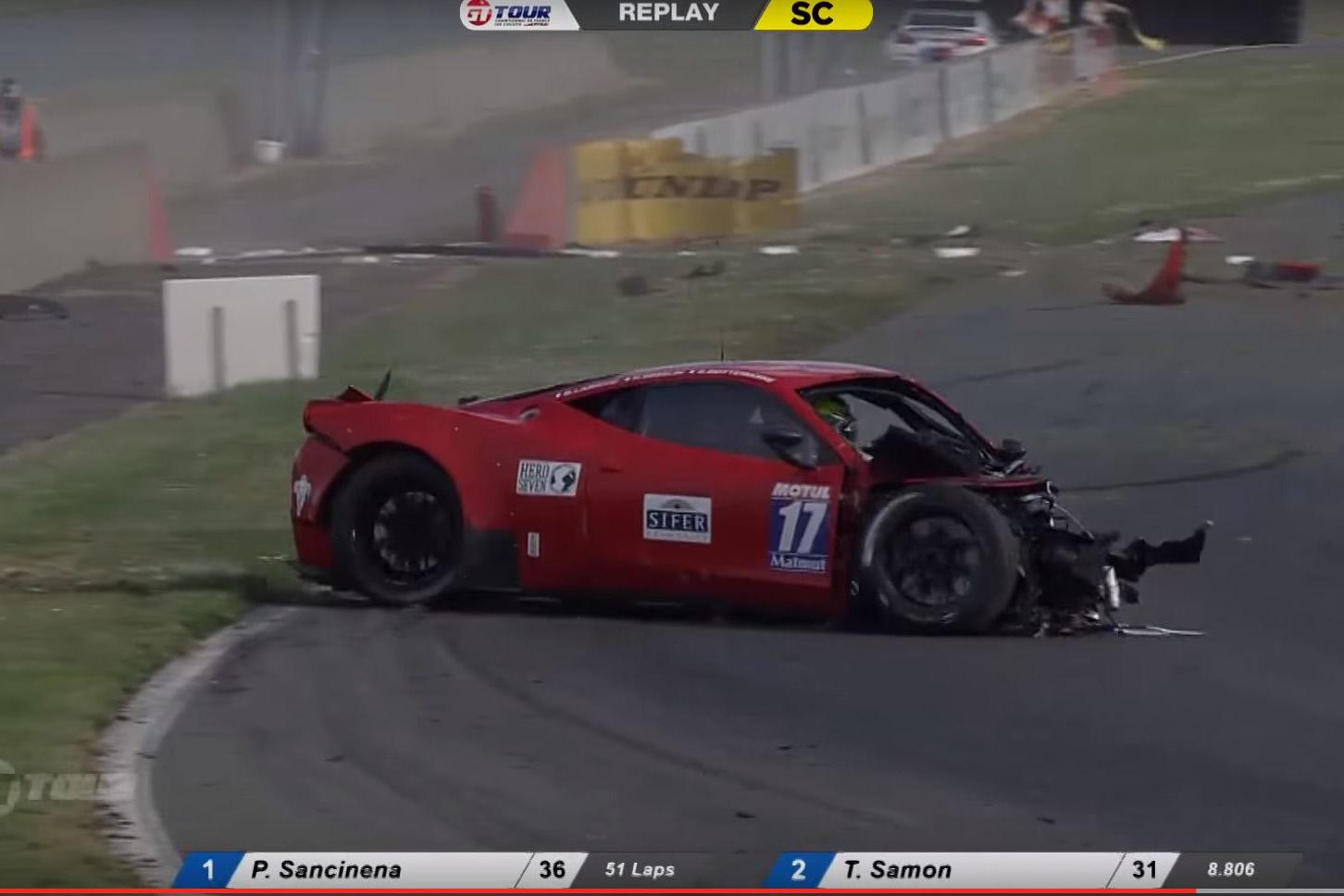 Ferrari Car Crash Pictures