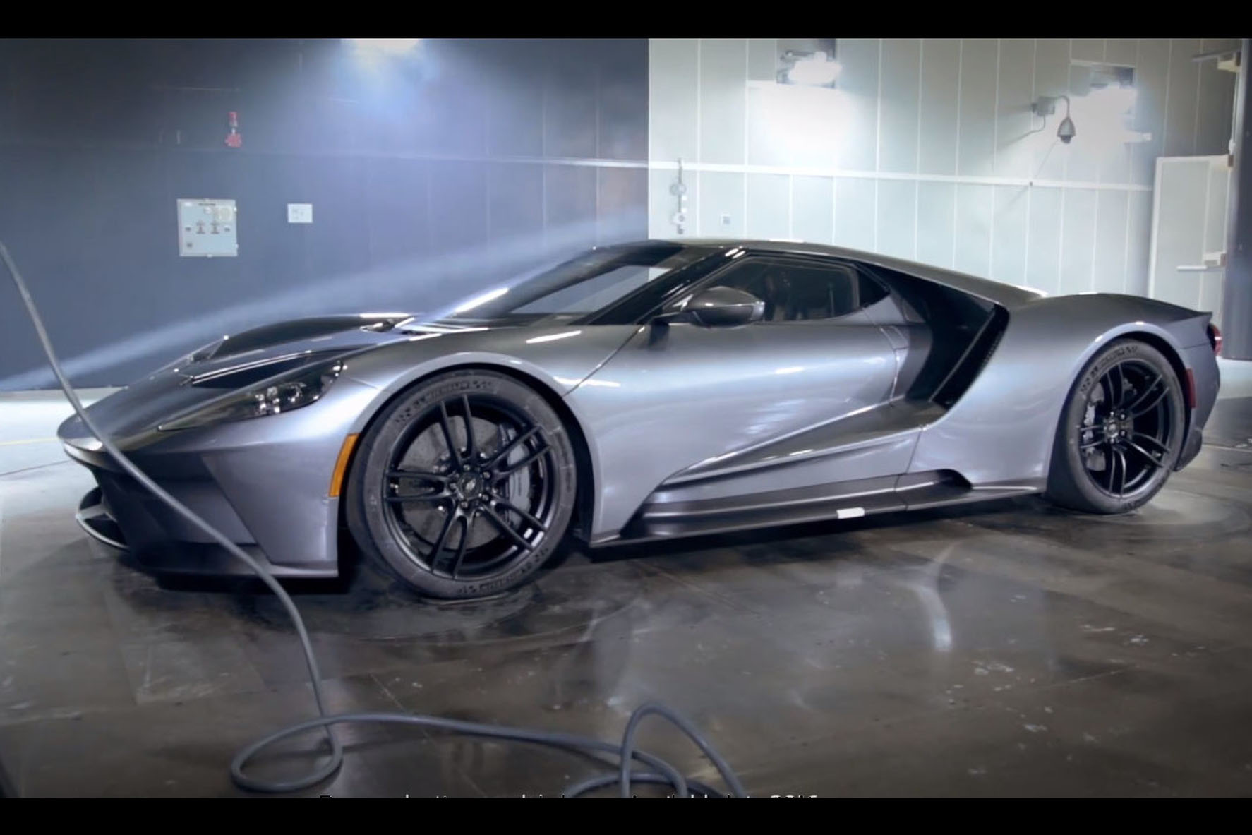 Video See The Ford Gts Amazing Aero Package At Work During Wind Tunnel Testing