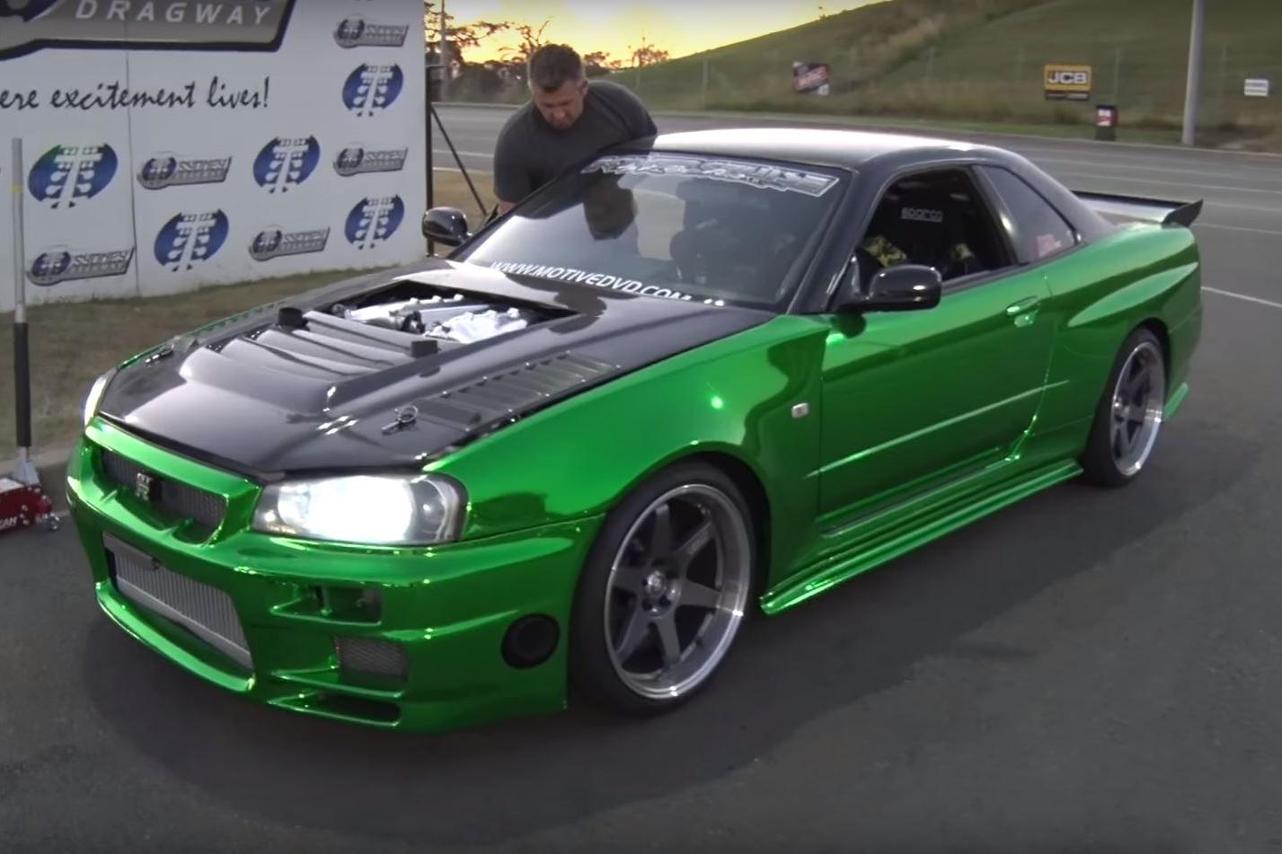 video a nissan skyline r34 gt r with a r35 motor hells yes rh sxdrv com Nissan GT-R Chrome Nissan Skyline GTR R34