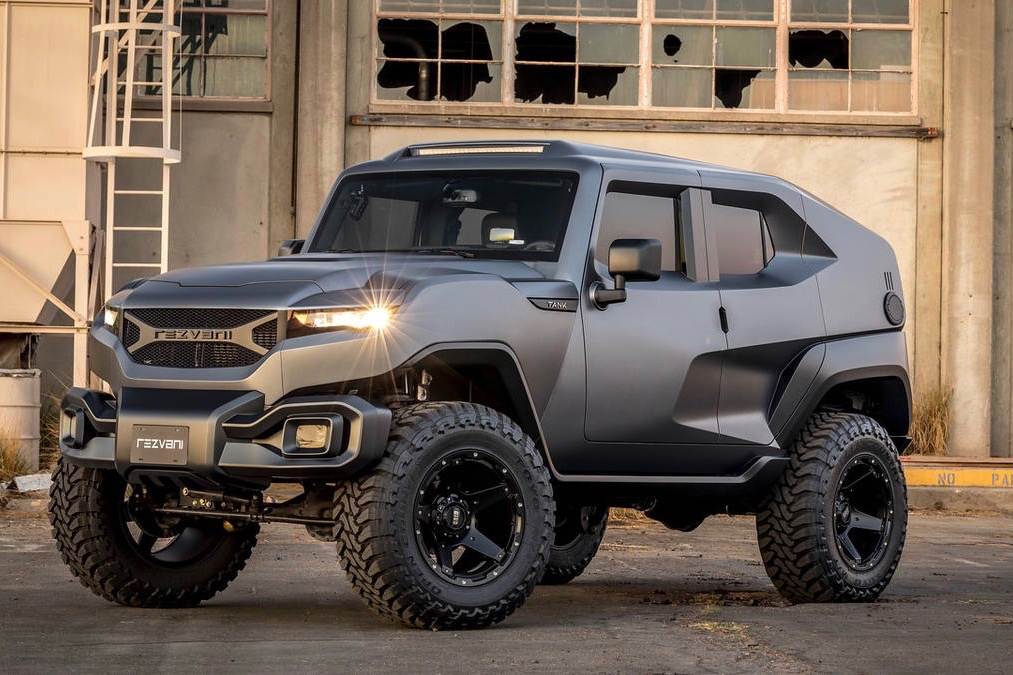 sxdrv,sxdrv.com,automotive ,cars,Rezvani Tank,Rezvani,post-apocolytic ,luxe-mobile,bulletproof ,off-road,safety,style,SUV,Tank,Jeep Wrangler,armor protection,thermal night vision,