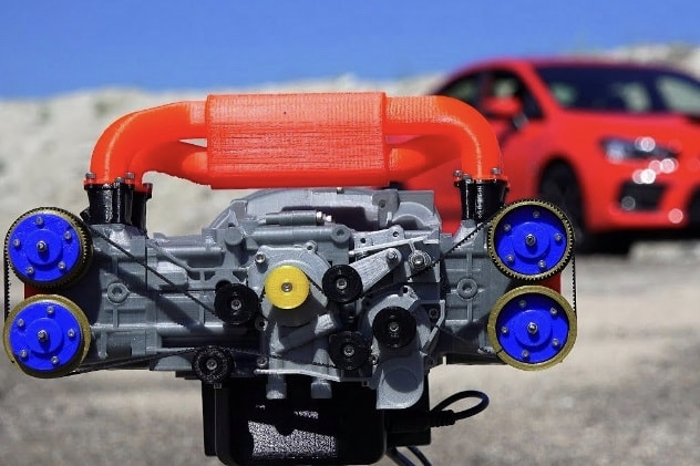 Video: 3D Printed WRX engine, this is how Boxer engines works! 1