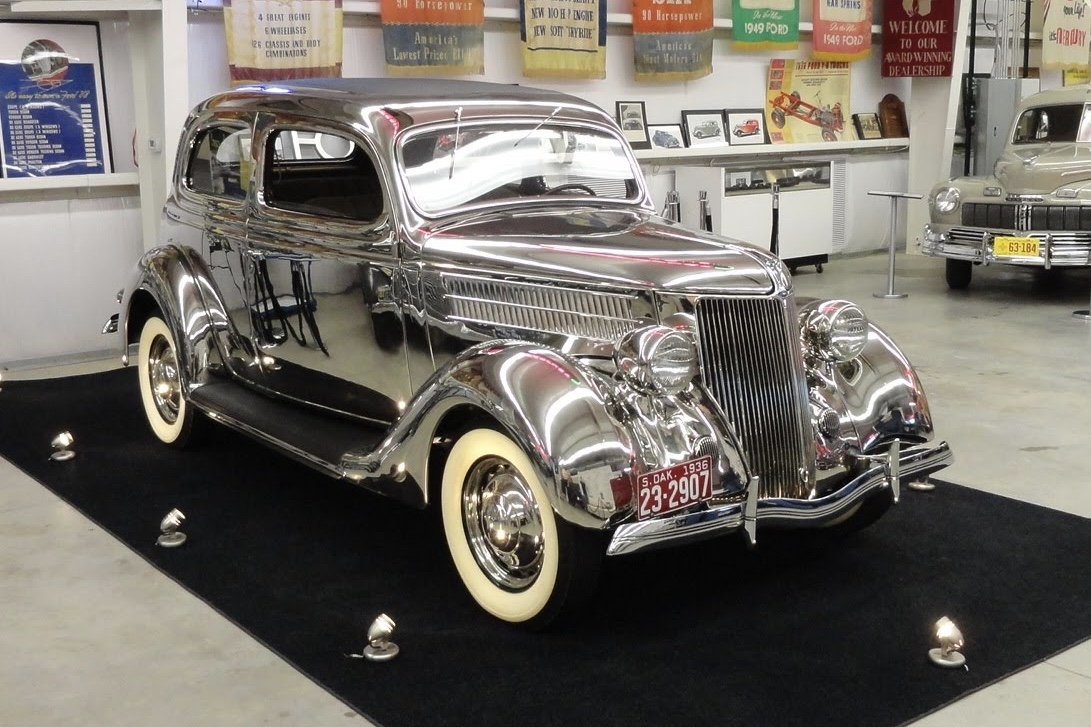 Video: Old school 1936 Ford Stainless Steel Tudor Delux 1