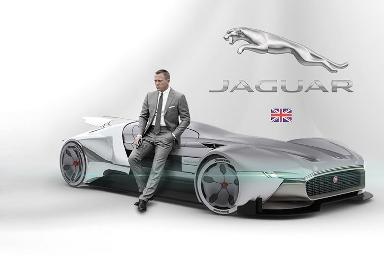 A James-Bond Futuristic Jaguar hypercar 1