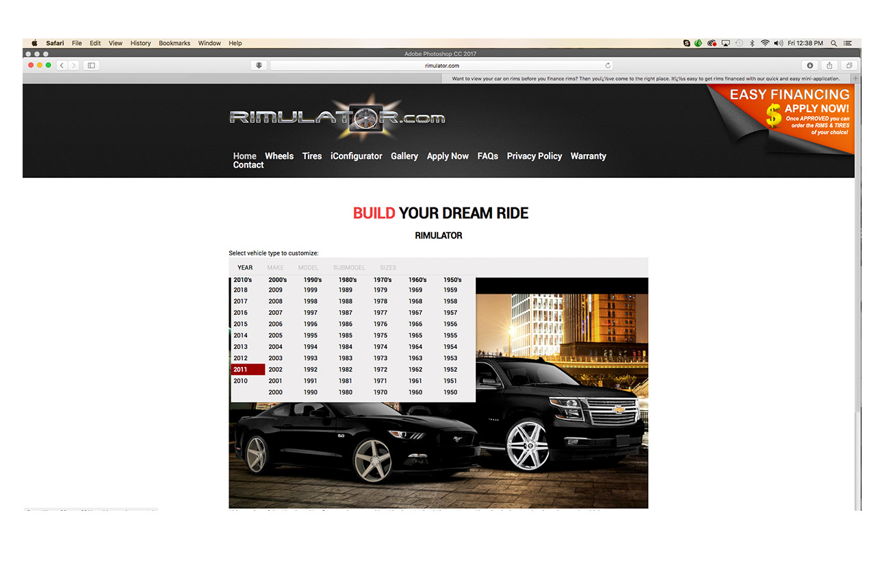 Rim Simulator? Introducing Rimulator! Tons Of Rims And Tyre Options To Select From 2