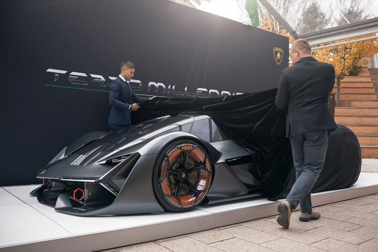 lamborghini,terzo millennio,concept,MIT,hybrid,electric,2019,2018,review,hypercar,supercar,sportscar,sxdrv,