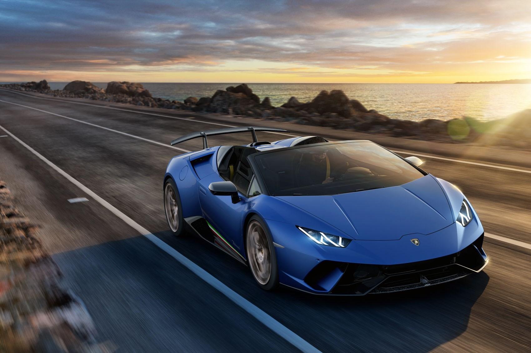 sxdrv,convertible supercar,all-wheel-drive,443 lb-ft,630 hp,5.2-litre V10,$308 859,Lamborghini Huracan Performante Spyder,