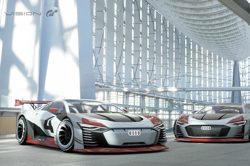SXdrv, Cars, Audi e-tron, Gran Turismo, Audi e-Tron Vision Gran Turismo, Formula E race,PlayStation 4,