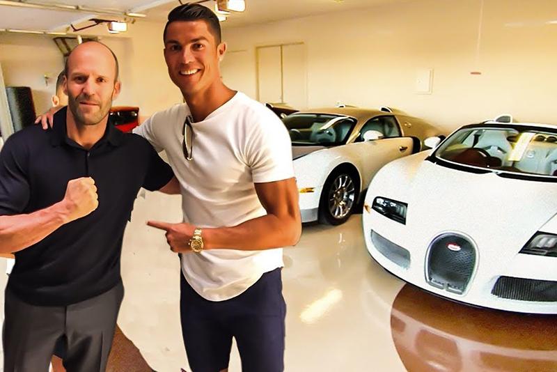 sxdrv,Jaguar E-Type,McLaren, Porsche, Lamborghini, Aston Martin,Rolls-Royce,Jason Statham,Cristiano Ronaldo,Car collection,Celebrity collections: Cristiano Ronaldo Jason Statham,