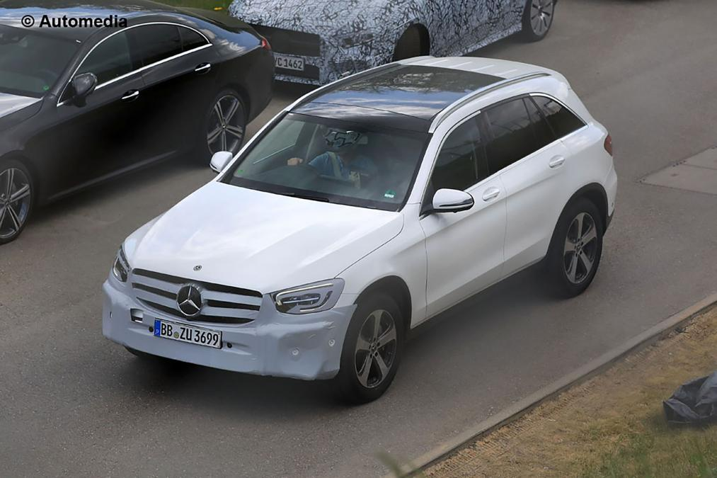 Mercedes GLC facelift spied for the first time 1