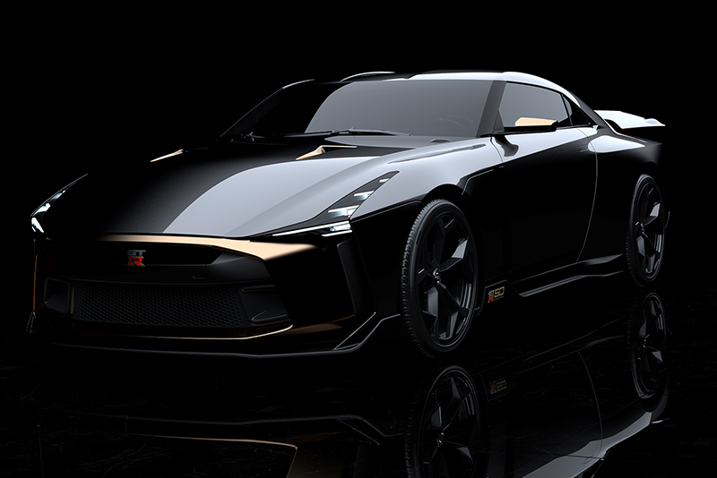 Godzilla transformed into the gorgeous GT-R50 from Nissan and Italdesign 1