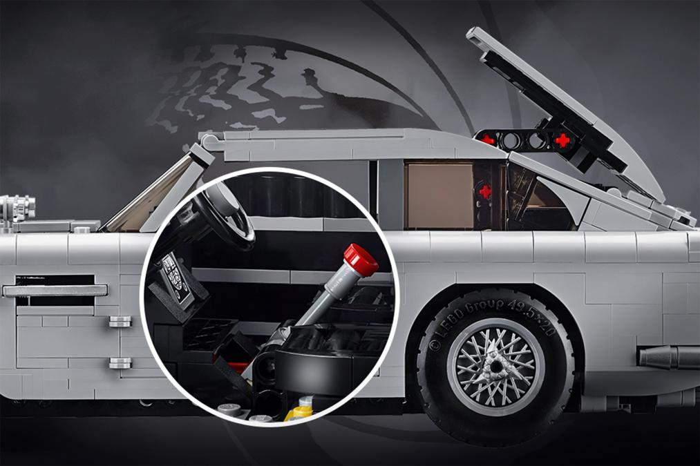 lego james bond aston martin db5 launches with ejector. Black Bedroom Furniture Sets. Home Design Ideas
