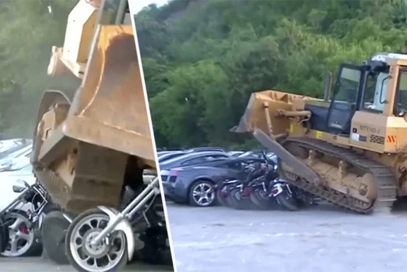 Philippines president orders the destruction of $4 Million worth of drug dealers supercars 1