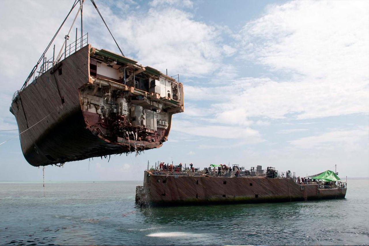 Sunken Ship Containing 1,400 Cars Pulled From The Ocean Floor! 1