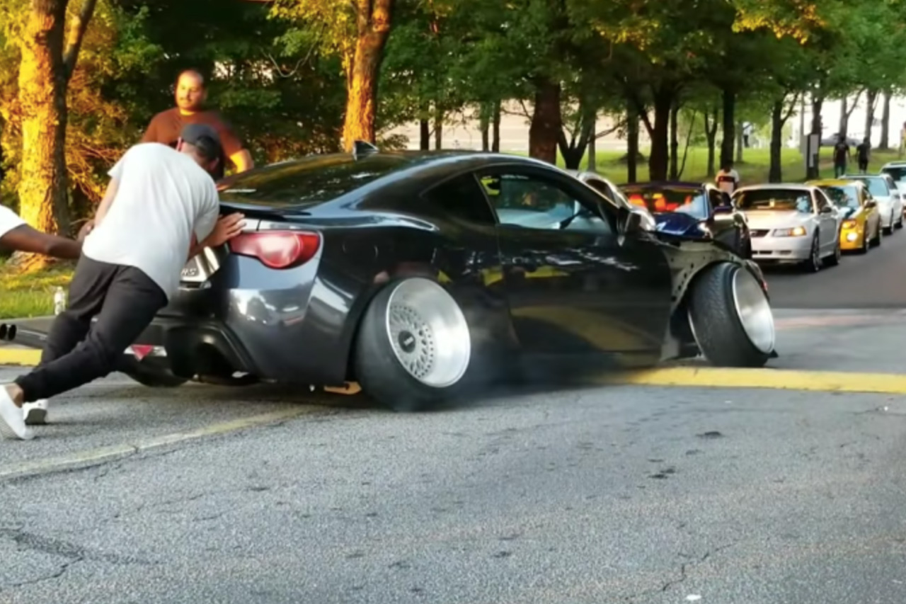 This Scion Fr-s Stuck On A Speed Bump – Is It Possible To Have Too Much Stance? 1