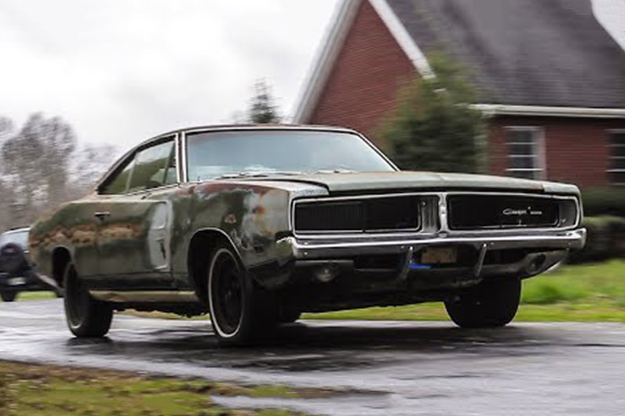 Abandoned 1969 Dodge Charger Drives After 34 Years 1