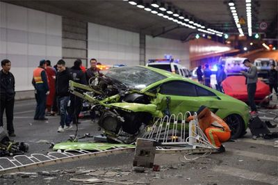 $1.3m Lamborghini And Ferrari Crash Kicks Off China's Opening Weekend For Furious 7