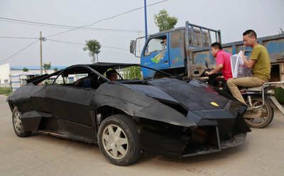 Video: Chinese Man Creates Own Lamborghini Out Of Iron And An Old Van