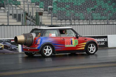 Video: Jet-engined Mini + Turning = Fail!
