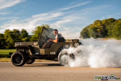 Video: Watch A 1952 Willys Jeep Take Flight!