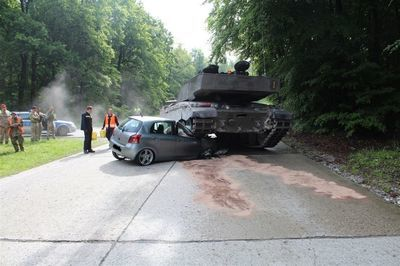 Tank Vs Car. No Surprise Which One Ends Up Destroyed.