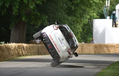 Video: Terry Grant Does Goodwood Festival Of Speed, On Two Wheels, In A Four-wheeled Car!