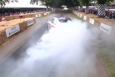 Video: This Toyota Camry Nascar Spits Flames From It's Tyres!