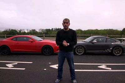 Video: American Muscle Vs German Refinement. Gt3 Rs Vs Camaro Z28. Epic Battle Ahead!