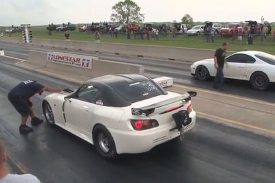 Video: Watch This Honda S2000 Pop A Wheelie Like It's Nobody's Business!