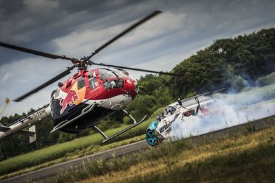 Video: Helicopter And Drift Car Playing Cat And Mouse, Redbull Style!