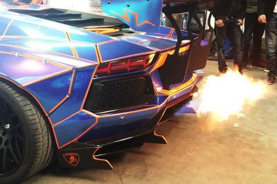 Video: Liberty Walk Aventadors Causing Havoc With Some Proper Flame Spitting!