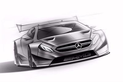 Mercedes-benz Teases Sinister C63 Dtm Racecar
