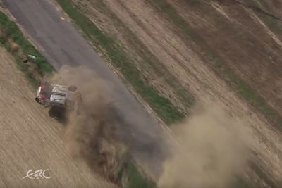 Video: Massive Rally Crash Seen From The Sky, Impressive Footage!