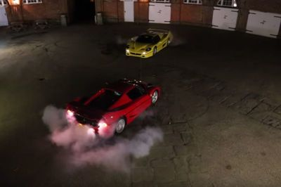 Video: You Don't Get Much Cooler Than A Ferrari F50 Tug Of War!