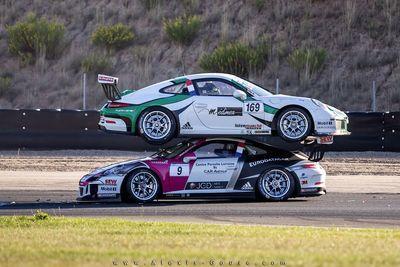 Video: Watch Two Porsches Crash In The Strangest Way Ever!
