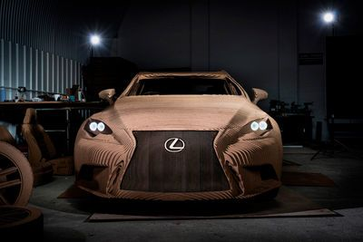 Video: Full Size Lexus Is Crafted From Cardboard, And It's Drivable!