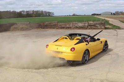 Video: Clay Pigeon Shooting And Wicked Donuts In A Ferrari 599 Sa Aperta!