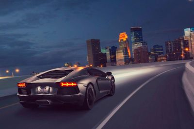 Video: When You Come Across An Aventador On The Highway, It Definitely Calls For A Race!