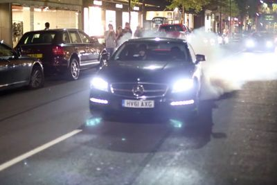 Video: Crazy Mercedes Cls Amg Smoking Up London Streets At Night!