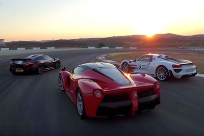 Video: Chris Harris Pits The Laferrari, Mclaren P1 And The Porsche 918 Spyder Against Each Other In A Epic Track Battle!