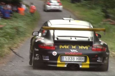 Video: Porsche Rally Car Narrowly Avoids Crashing Into A Massive Crowd!