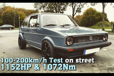 Video: This Mk1 Golf Produces 1152hp! Let That Sink In For A Moment...