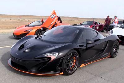Video: Mclaren P1 Vs Mclaren 650s Drag Race!