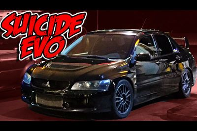 Video: Street Racing Taxi - The Suicide Evo!