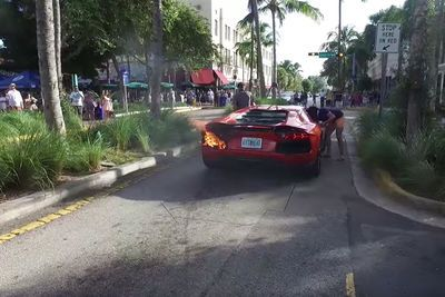 Video: Valet Sets Lamborghini Aventador On Fire After Illegal Joyride!